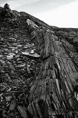 slate (Cano Vri) Tags: 2016 borselv bw hamnfjord porsangefjorden rock slate stones finnmark norway no