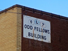 Odd Fellows Building, Wheeling, WV (Robby Virus) Tags: wheeling westvirginia ioof flt odd fellows building fraternal organization sign signage