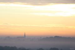 (martine_ferron) Tags: clocher brume matin automne leverdesoleil