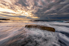 lonely rock (Poppy FD) Tags: sydney seascape sea sunrise water wave landscape australia