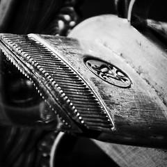 The Habaki (collar) of a katana (el_cheffo) Tags: blackandwhite bw monochrome depthoffield dof collar habaki katana blade sharp edge macro macromonday hmm