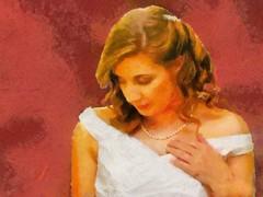 The Bride to Be (Jeff Kolker) Tags: wedding bride dress white marriage portrait girl woman female red daughter jeff kolker jeffkolker weddings brides dresses portraits girls women females daughters