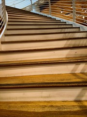 Movin' On Up (Thad Zajdowicz) Tags: 366 365 staircase steps concept indoor inside lines wood up onward pasadena zajdowicz california cellphone photoshopexpress motorola droid turbo rise ascend advance curves climb moveup escalate soar takeoff liftoff twist