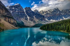 Moraine Lake (andrewgrove) Tags: mountains mountain banff canmore lake morainelake lakelouise rocky rockymountains