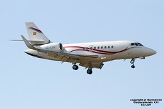 EC-LGV LMML 19-10-2016 (Burmarrad) Tags: eclgv lmml 19102016 airline corporatejets xxi aircraft dassault falcon 2000lx registration cn 198