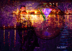 Time Passes (brillianthues) Tags: night lights time clock colorful collage photography photmanuplation photoshop