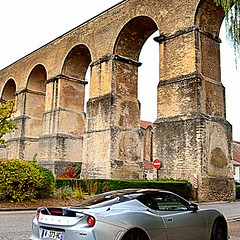 from Roman to Modern times (mujepa) Tags: roman aqueduct jouyauxarches metz france sortscar europe lotus romain aqueduc car auto automobile