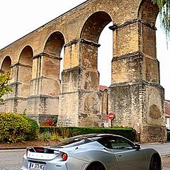 from Roman to Modern times (mujepa) Tags: roman aqueduct jouyauxarches metz france sortscar europe lotus romain aqueduc car auto automobile