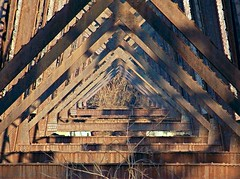 CPR bridge, underneath (Will S.) Tags: trenton trentriver cprbridge cpr cprail canadianpacificrailway metalbridge ironbridge bridge rust rusty boostedcolour mypics quintewest ontario canada quinte quintearea quinteregion cp canadianpacific railway railroad railroadbridge railwaybridge