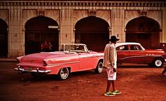 One man, two cars (Harry Szpilmann) Tags: lahabana streetphotography people portrait vintage old classic car lahavane cuba