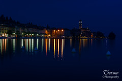 the night (Tiziano Photography) Tags: salò night lights reflections garda lagodigarda bluehour belltower lake lakefront nikond750 d750 nikon landscape panorama notturno luci riflessi lago orablu lungolago campanile