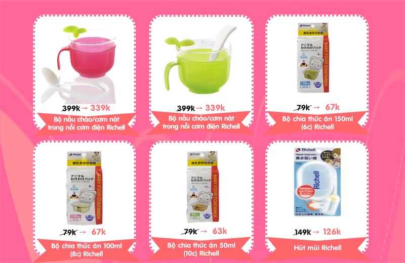 Khuyến mại hấp dẫn từ thương hiệu đồ dùng cho bé Richell, Summer, Comotomo, Munchkin (4 - 16/11)