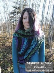 Huntress Cowl 01e (zreekee) Tags: sparkledoomdesigns saskatchewan handmade crochet canada rhiannon cowl hungergames