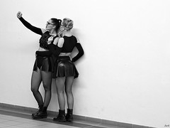 Selfie.. (Pavel Jursek) Tags: black white bw blackdiamond photography photographie monochrom femme human giirls public pb moments blackwhite street moment streets pics picture photo people sreetlite city urban impublic steetphoto image flickr monotone mono