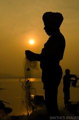 Post Prod Processing (sakthi vinodhini) Tags: kolavai lake fishing fishermen india tamil nadu chennai chengalpet south earlymorning early morning sunrise nikon d5100 cwc560 cwc outdoor shade silhouette
