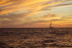 Sailing into the sunset near Block Island (nelights) Tags: sunset blockisland rhodeisland sailboat sailing sail ocean seascape