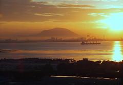 Golden Sunrise (stardex) Tags: dawn sunrise cloud ship sea mountain butterworth penang malaysia morning