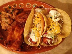 Ensenada Style Fish Tacos (strippedcats) Tags: ensenada baja fishtacos food dinner cooking mahimahi