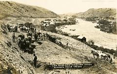 Post Card No. 155  Westside canal construction (klamathmuseum) Tags: klamath falls history link river canal