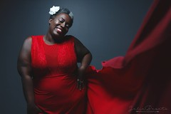 (Cammydoll) Tags: black woman africanamerican canadian red jazz billiebillieholiday photoshoot photography mature short bbw plus size model modeling guelph toronto ontario canada