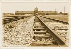 Auschwitz - Birkenau (KelJB) Tags: birkenau auschwitz camp entrance traintrack ww2 war germans poland concentrationcamp
