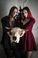 IMG_0051 (rodinaat) Tags: new year happy holiday tree christmas skull goat satan brutal metal metalhead longhaie redhair red black