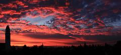 red sunrise over Mannheim (Steffen und Christina) Tags: sonnenaufgang sunrise red blue roter rot blau wolken clouds panormaicshot panorama mannheim germany deutschland blauerhimmel rotewolken bluesky redclouds