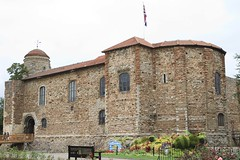 Colchester Castle, Colchester, England. (Downtime_1882) Tags: horizontal landscape outdoors color colorimage colour colourimage europe famous famousplace castle colchester colchestercalstle uk gb england wp people sky flag withpeople trees tree flowers canoneos7d canoneos eos7d 7d canon canonef2470mmf28liiusm