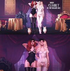 Birdy - Cabaret @ The Arcade (Dani @ Birdy/Foxes/Alchemy) Tags: sl secondlife birdy maitreya lara belleza venus isis freya cabaret burlesque corset arcade