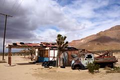 Closed (nedlugr) Tags: california ca mojavedesert usa clouds closed truck ruraldecay ruralwest rust mountain windturbines