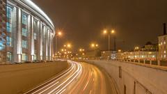 City traffic (pilot3ddd) Tags: stpetersburg obvodnycanalembankment frunzenskiyunivermag traffic citylights longexposure olympuspenepl7 panasoniclumixg1232