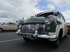 """""""Ford Gathering"""", Junction One (Antrim), September 2016 (nathanlawrence785) Tags: ford gathering event antrim j1 junction one shopping complex car park cars escort cortina mexico ranger consul stanced green gold hatchback september 2016"""