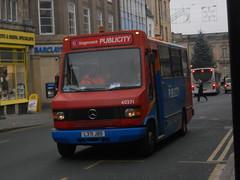 Stagecoach 40371 L371 JBD (Alex Swanston's Bus Photos) Tags: bus vehicle outdoor road northampton stagecoach stagecoachmidlandred stagecoachinnorthampton publicity mercedes benz alexander sprinter 40371 l371jbd