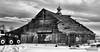 Jan 18 2016 - Out with the old (lazy_photog) Tags: lazy photog elliott photography old classic barn being demolished razed colorado black white sad abandoned 011816broncoswithgabe