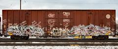 _DSC7516 (The Curse Of Brian) Tags: trains freights graffiti minneapolis minnesota ekos ham