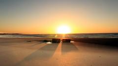 II (jineminglee180) Tags: ocean sunset sea sun beach stone sunrise  magichour    t124   canoneosm