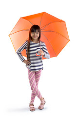 Rain Season (Patrick Foto ;)) Tags: pink red portrait people orange white cute girl beautiful beauty face rain weather childhood smiling fashion female umbrella studio season asian fun thailand happy person grey one kid spring model holding pretty child bright little expression background space daughter young happiness thai concept lovely copy isolated