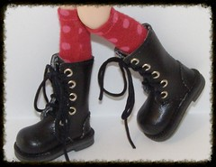 Tall Maroon With Blush Dot Socks For Blythe...