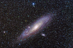 M31 - Andromeda Galaxy (Kirby Wright) Tags: sky stars spiral nikon long exposure object space deep astro m andromeda galaxy astrophotography astronomy messier universe 31 cosmic f28 80200mm astrometrydotnet:status=solved d7000 ioptron zeq25 astrometrydotnet:id=nova1250839
