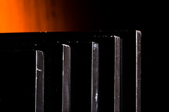 Ready for the show (solalta) Tags: 2015365 abstract black frames lines orange pattern sidelight stacked