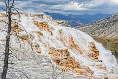Travertine terraces - Stylized (Alan Vernon.) Tags: park mountains hot water landscape scenery terraces scene national mammoth springs limestone yellowstone wyoming travertine geothermal