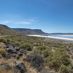 7-photo photomerge of Abert Rim and what's left of Lake Abert thumbnail