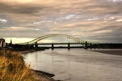 Coathanger (Tony Shertila) Tags: bridge england geotagged europe cheshire unitedkingdom britain coathanger runcorn gbr runcornbridge silverjubileebridge wiggisland geo:lat=5334737470 geo:lon=270864487 haltoncastleward