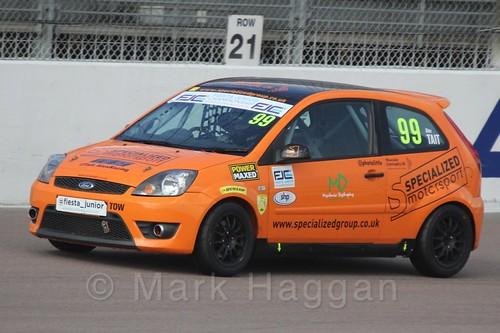 Alexander Tait in Race 1, Fiesta Junior Championship, Rockingham, Sept 2015