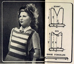 2015-10-14 1947 pattern (1) (april-mo) Tags: wool sweater pattern clothes pullover 1947 vintagemagazine vintagepattern the1940s vintagefrenchmagazine pulloverpattern