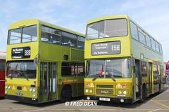 Dublin Bus DF839 (839NIK) & RH7 (90D1007). (Fred Dean Jnr) Tags: dublin alexander leyland mcardle vanhool dublinport olympian dublinbus atlantean busathacliath an68 rh7 90d1007 df839 839nik dublinbustwotonegreenlivery dublinportrally september2015 dublinportrally2015