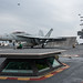 F/A-18F Super Hornet Prepares to Launch from the USS Ronald Reagan Near Japan