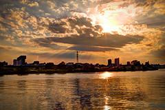 Arakawa Sunset (Mule67) Tags: japan clouds river saitama akabane kawaguchi arakawa 2015 5photosaday