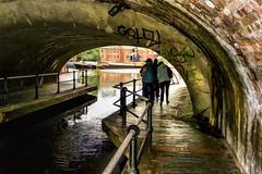 Birmingham - Gas Street Basin (Bobinstow2010) Tags: boat canal birmingham arty path tunnel waterway brindleyplace gasstreetbasin