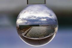 Baths Glass Ball (Sterling67) Tags: sea cloud water glass clouds swim sunrise ball newcastle cloudy oceanbaths